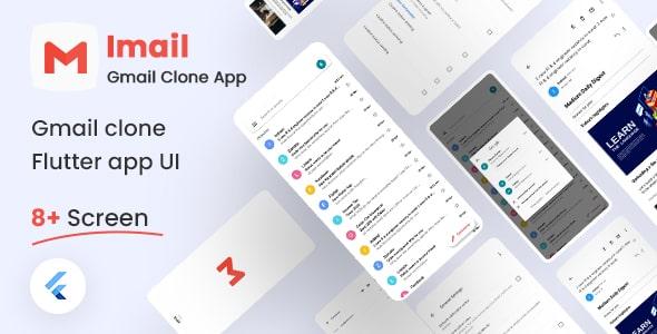 Free Gmail Clone Flutter UI Kit   iMail   Iqonic Design  8+ Best Flutter UI Kits Free (UI Kits and Templates) imail1
